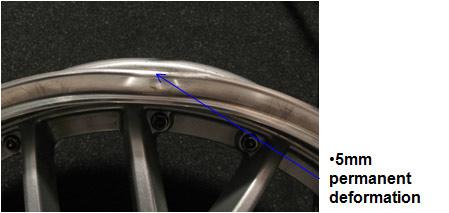 Aluminum wheel damaged