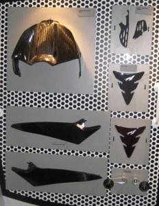 OEM Yamaha carbon fiber accessories