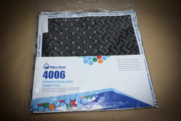 Fibre Glast carbon fiber patterns sample pack