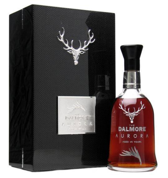 Dalmore Aurora whisky with a carbon fiber box