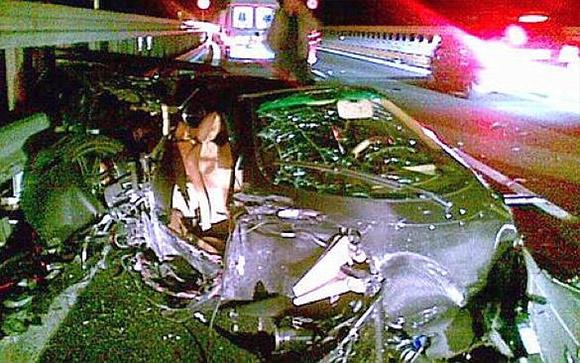 Pagani Zonda F Crash