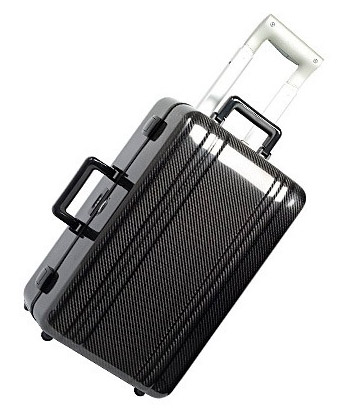 Zero Halliburton carbon fiber carry on suitecase