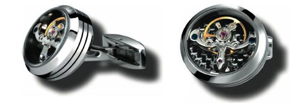 TF Est 1968 carbon fiber tourbillon cufflinks