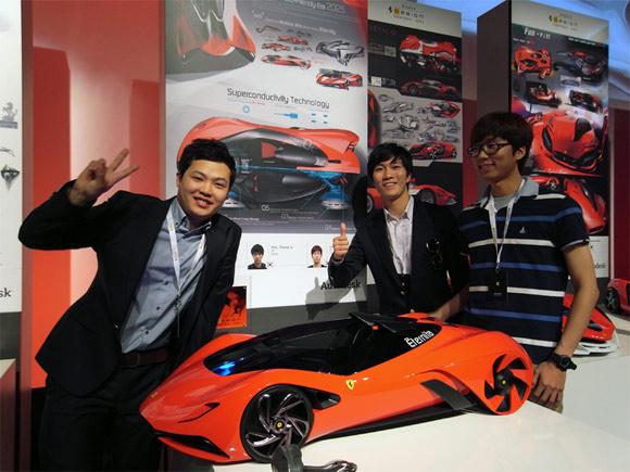 The Eternity carbon fiber Ferrari student concept design