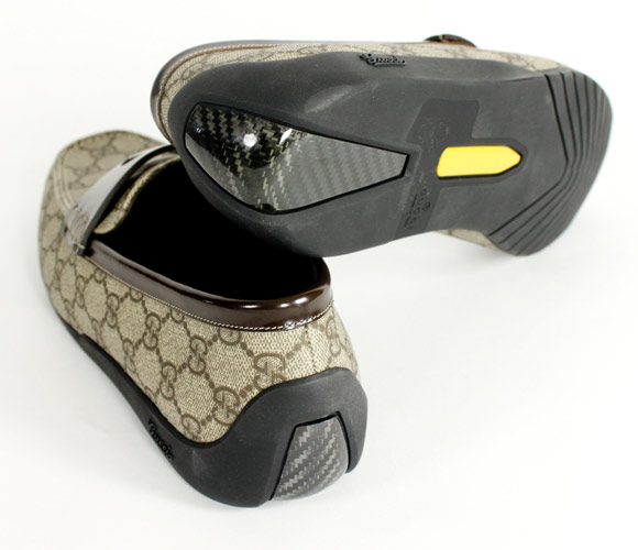 Gucci GG Mocassin carbon fiber men's shoe