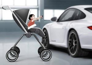 Porsche Design P'4911 carbon fiber baby stroller