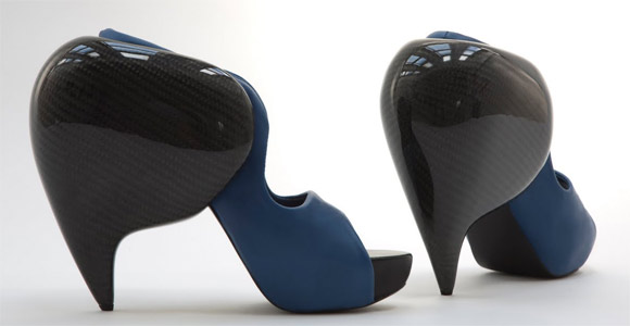 Carbon fiber shoes and heels