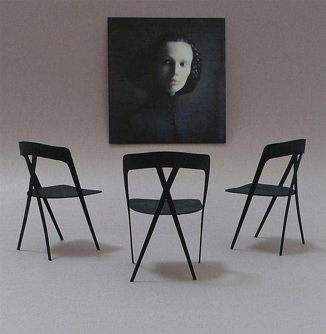 X Federation carbon fiber laminate chair