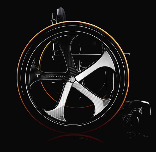 Carbon Black carbon fiber wheelchair