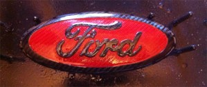 Clearcoating carbon fiber Ford emblem