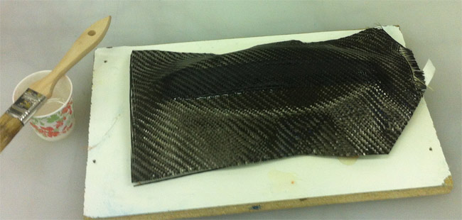 Wet laying carbon fiber