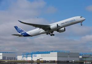 Airbus A350 XWB takeoff