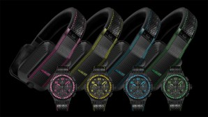Hublot headphones with colored watches