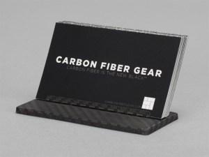 Carbon fiber business card stand