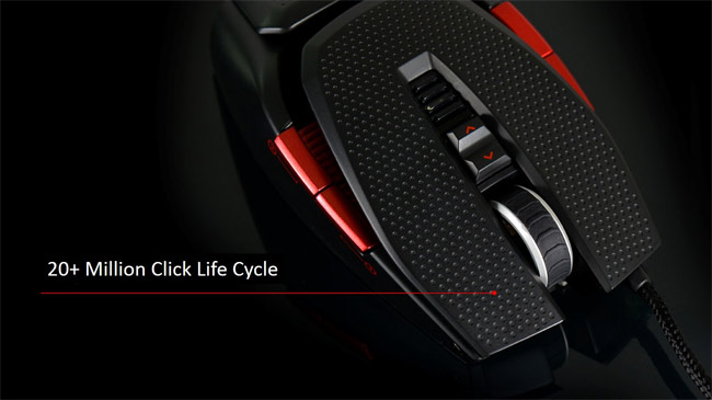 EVGA TORQ X10 carbon fiber gaming mouse