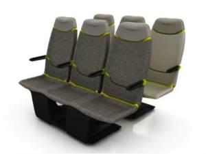 Carbon fiber aircraft seat