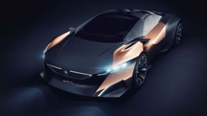 Peugeot Onyx concept car with carbon fiber and copper