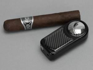 Dobrev III Triple Jet Flame Black Carbon Fiber Lighter