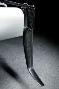 Carbon fiber rudders