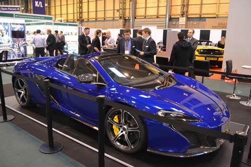 McLaren 650S with its 50-kg carbon fiber composite monocoque