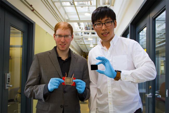 Two Guys Holding Nanotubes