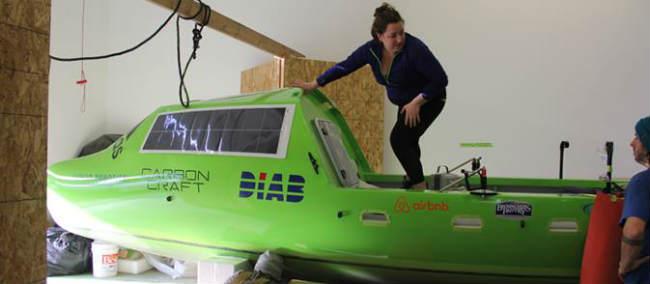 carbon fiber rowboat