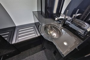 Carbon fiber bathroom