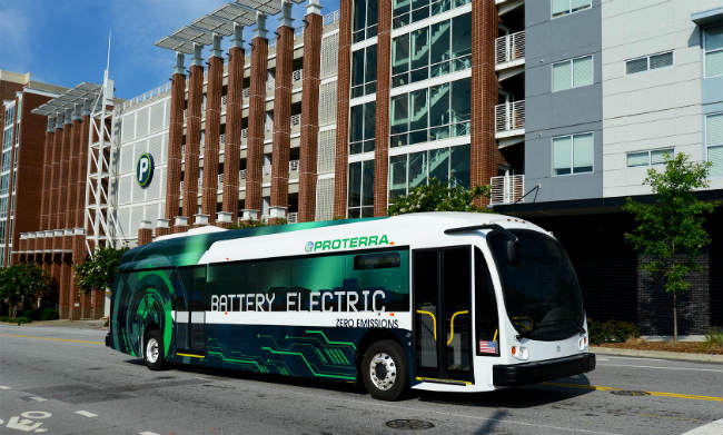 Proterra composite-bodied bus