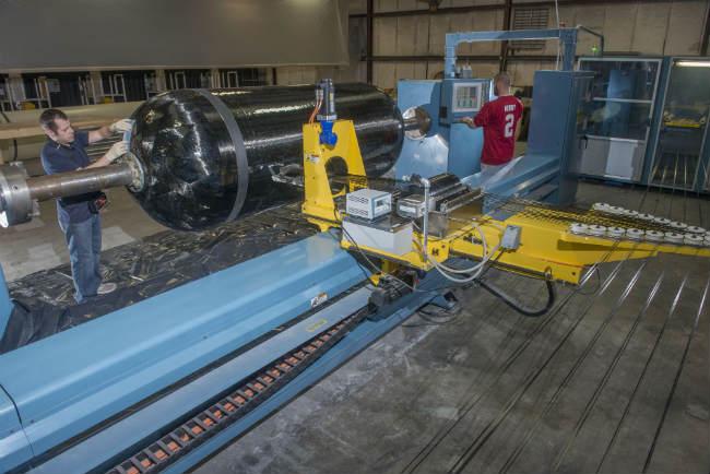 carbon fiber over-wrapped pressure vessels