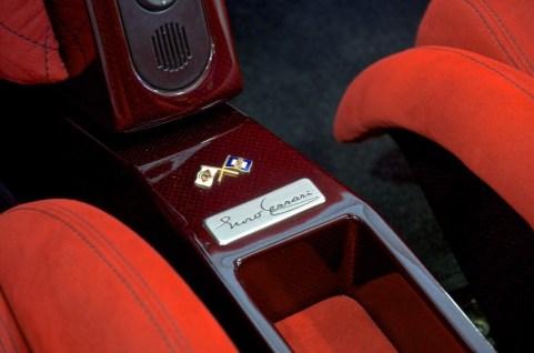 Exposed carbon fiber Enzo Ferrari interior