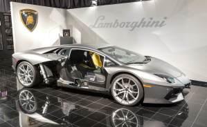 Lamborghini Aventador at research facility