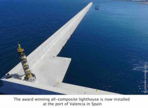 Huntsman, Acciona collaborate on all-composite lighthouse
