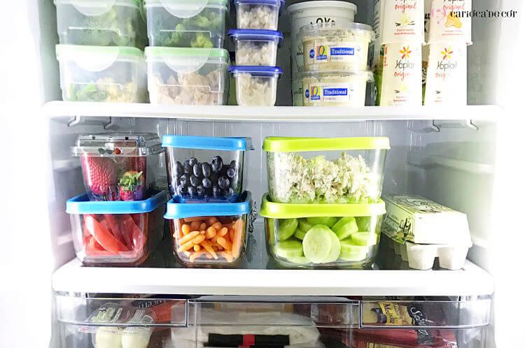 Interior de geladeira