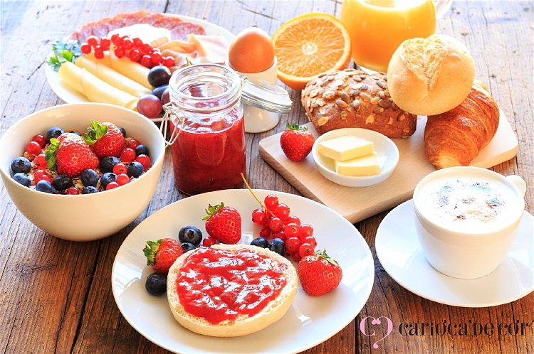 sugestões para café da manhã