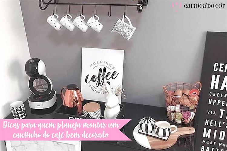 dica para planejar o cantinho do café