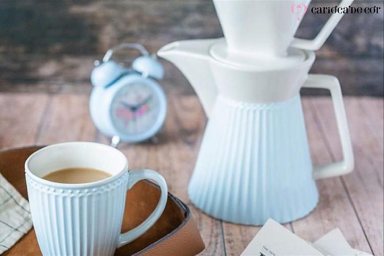 conjunto de louças para café