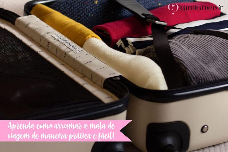 aprenda como arrumar a mala para viagem