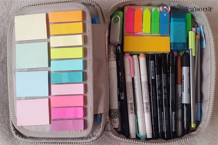 estojo organizado
