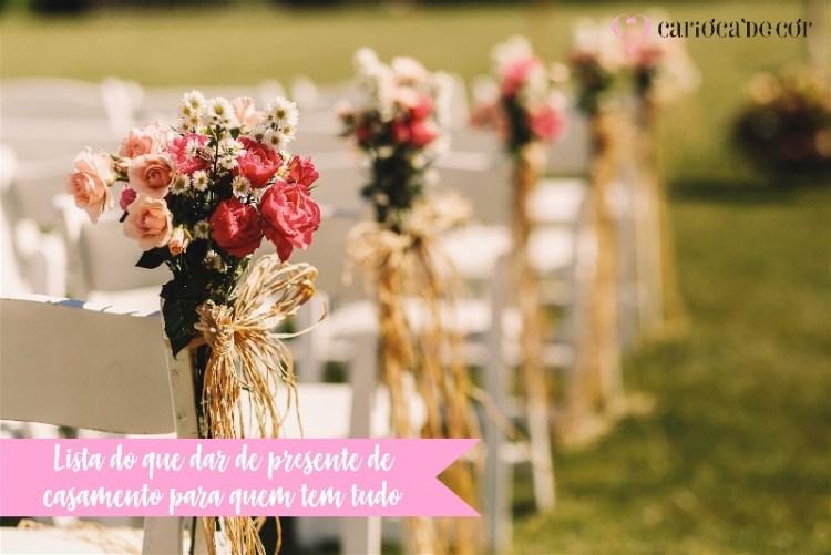 lista do que dar de presente de casamento