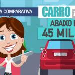 tabela comparativa dos carros abaixo de 45 mil reais