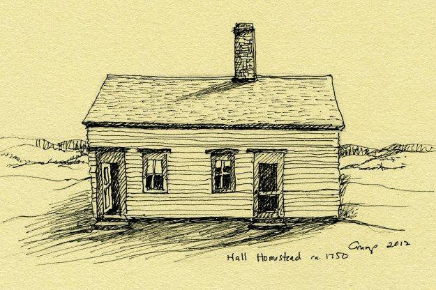 Hall Homestead, ca. 1750