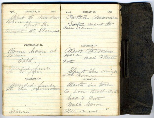 Journal of William Ellsworth Hall, 1861