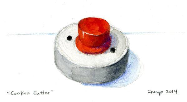 """Cookie Cutter,"" Carol Crump Bryner, gouache, 2014"