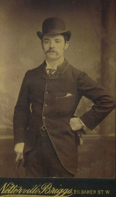 Joseph Biggs, sometime before he came to America in 1888, photo curtesy of Donna Palmer