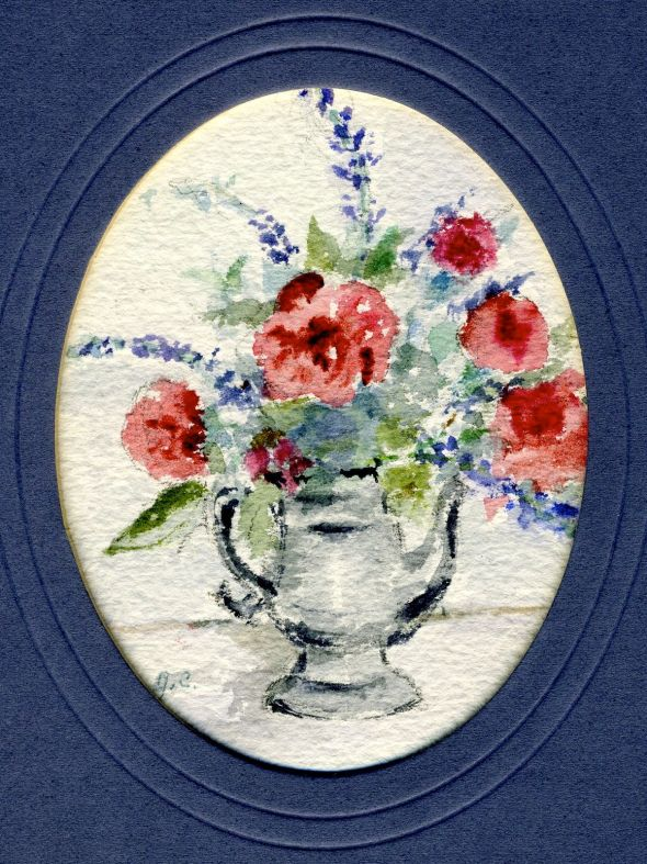 """Memorial Day Bouquet,"" Janet Hall Crump, watercolor"
