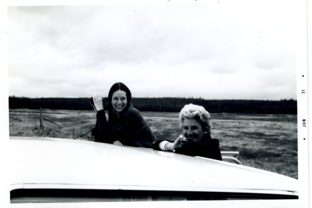 Carol and Janet, near Palmer, Alaska, 1971