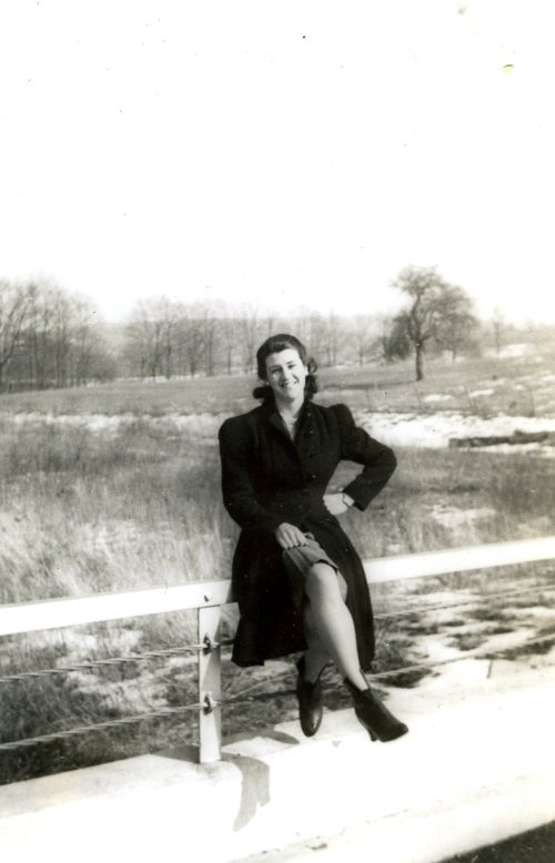 Janet near Muddy River, 1942