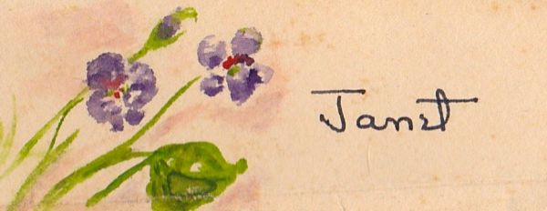 """Place Card,"" Janet Hall Crump"