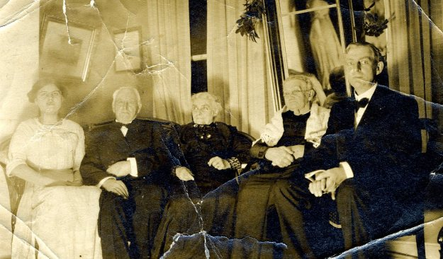 From left: Unidentified relative, William E. Hall, Lydia Jane Hall, Lydia Reed Davidson Hart, Edgar Hall