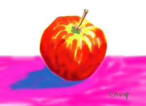 """Modern Apple,"" Carol Crump Bryner, ipad painting"